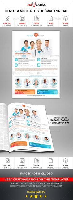 Health and Medical Flyer / Magazine AD