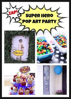 Super Hero Pop Art Party {Part One} |