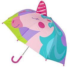 fc3d35fdbb268 3D Unicorn Umbrella Stephen Joseph Girls – All Things Unicorn Garden  Parasols, Baby Girl Gifts