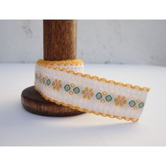 Lovely Mustard Yellow and White Vintage Sewing Trim    From Just Smashing Darling on Etsy