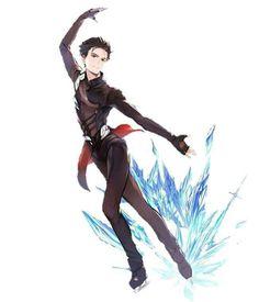 on Ice Katsuki Yuri, Yuuri Katsuki, Anime Manga, Anime Guys, Anime Art, Haikyuu, Yuri On Ice Comic, Naruto Vs Sasuke, ユーリ!!! On Ice