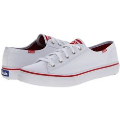 Keds Double Up Core (White) Women's Lace up casual Shoes ($50) ❤ liked on Polyvore featuring shoes, sneakers, white, sneakers & athletic shoes, breathable shoes, laced up shoes, white oxford, white shoes and white oxford shoes