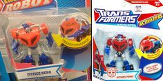 "Justice Hero looks familiar  This Justice Hero ""transformable robot"" I saw in a store looks awfully familiar."