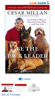 Be the Pack Leader: Use Cesar's Way to Transform Your Dog . and Your Life Paperback – September 2008 Best Dog Training Books, Dog Training Tips, Emotional Support Dog Training, Cesar Millan, Working Dogs, Nonfiction, Best Dogs, Good Books, Novels