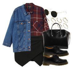 """""""Style #11111"""" by vany-alvarado ❤ liked on Polyvore featuring Monki, ASOS, Givenchy, Dr. Martens and Ray-Ban"""