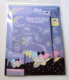 Sanrio Little Twin Stars Kiki & Lala Mini Letter Set Twinkling Stars Night New  - From Severine