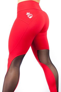 """The Newest addition to the BootyQueen Legging Family... The """"Red Hots"""" legging! This legging marries strength with glamour . Taking our signature high waist and super flattering fit; This legging will"""