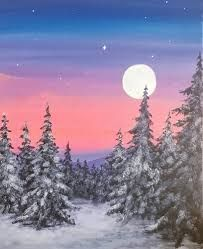 Image result for winter paint party