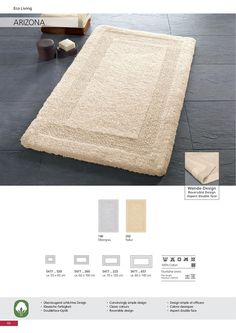 Beautiful high quality cotton rug with a dense soft pile / pile height. Bath Rugs, Cotton, Beautiful, Home Decor, Decoration Home, Room Decor, Home Interior Design, Bathroom Rugs, Home Decoration