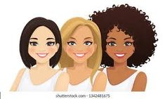cartoon 3 cool girls - Google Search Cartoon Faces Expressions, Female Farmer, Happy Birthday Girls, Female Superhero, Family Images, Afro Art, African Culture, Silhouette Vector, Girl Dancing