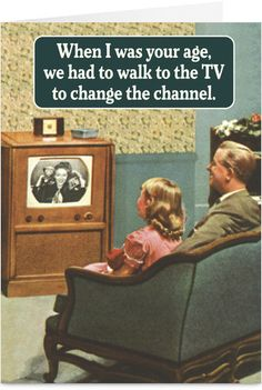 Retro TV Funny Birthday Card