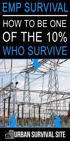 An EMP (electromagnetic pulse) that destroys the power grid would result in the death of of the population after just one year. This article on EMP survival explains how to be one of the Start preparing while you still can. survival tips Urban Survival, Survival Food, Homestead Survival, Wilderness Survival, Outdoor Survival, Survival Knife, Survival Prepping, Emergency Preparedness, Survival Skills