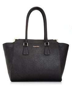 Calvin Klein Handbag, On My Corner Saffiano Tote
