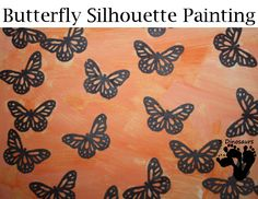 Butterfly Silhouette Painting - Learn about Monarch Butteflies and do this craft - 3Dinosaurs.com