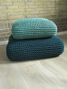 knit floor pillows