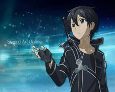 Sword Art Online - Kirito <<< ok so way in every anime do multiple girls fall on love with the main guy? I mean, seriously!!!