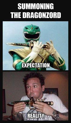 Summoning the Dragonzord. Jason David Frank is AWESOME!! Go Go Power Rangers!