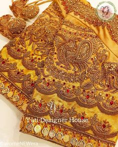 Latest Jeweled Blouse designs for 2019 Cutwork Blouse Designs, Netted Blouse Designs, Wedding Saree Blouse Designs, Pattu Saree Blouse Designs, Fancy Blouse Designs, Blouse Neck Designs, Sari Blouse, Maggam Work Designs, Stylish Blouse Design