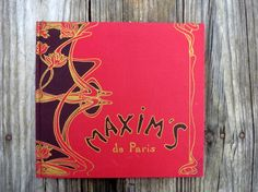 Maxim's de Paris special edition hardcover book by OatesGeneral