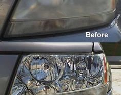 "Do your car headlights look foggy? restore your headlights back to their ""shiney"" status with toothpaste!"