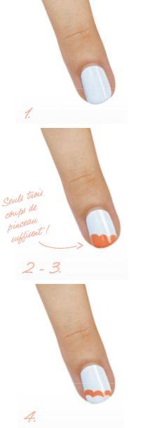 Un nail art facile en 4 étapes avec les vernis la Collection Resort 2014 de Essie Pro