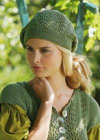 Free knitting pattern - lace slouchy beret