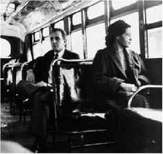 montgomery bus | Rosa Parks on Montgomery Bus