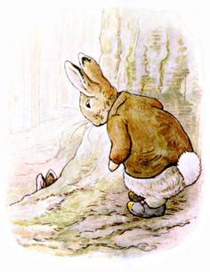 This is a free vintage easter illustration of Benjamin Bunny edited from the 1904 classic by Beatrix Potter Easter Illustration, Children's Book Illustration, Animal Illustrations, Coelho Peter, Beatrix Potter Illustrations, Beatrice Potter, Peter Rabbit And Friends, Benjamin Bunny, Jolie Photo