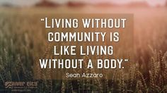 """Pastor Sean has been talking about how we all need the body - the community - to """"do life"""" together! Listen here: http://reallife.org/sermons/"""