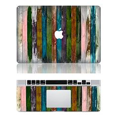 iCasso Vintage Retro Woodgrain Protective Full-cover Vinyl Art Skin Decal Sticker Cover for Apple Macbook Pro 13 Inch/13.3-Inch iCasso