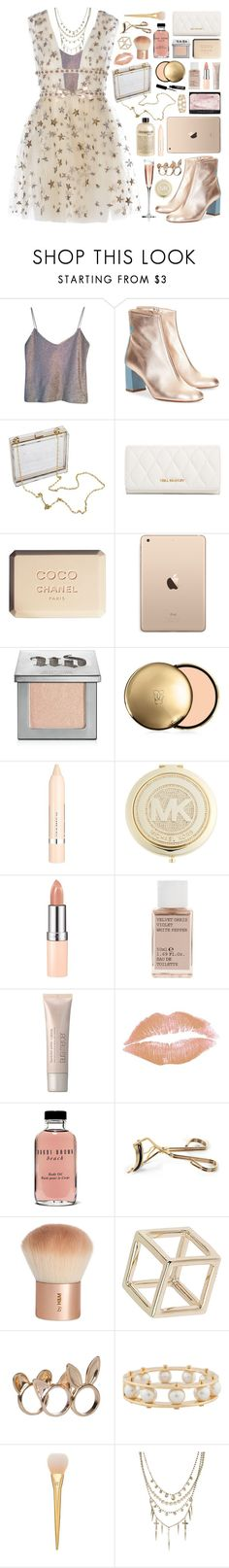 """//rose gold//"" by bananafrog ❤ liked on Polyvore featuring Narciso Rodriguez, Camilla Elphick, Vera Bradley, Chanel, Urban Decay, Guerlain, L'Oréal Paris, MICHAEL Michael Kors, Rimmel and Korres"