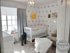 Silver Polka Dot Nursery | Featured Baby Room