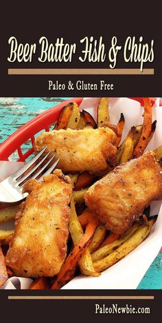 Paleo - Youll get hooked on this easy and awesome fish fry made with a light, flavorful batter and a little gluten-free beer. Simple skillet recipe - no deep fryer needed! It's The Best Selling Book For Getting Started With Paleo Paleo Recipes Easy, Primal Recipes, Cooking Recipes, Recipe For Fish And Chips, Gluten Free Fish And Chips, Fried Fish, Fish Fry, Gluten Free Beer, Beer Battered Fish