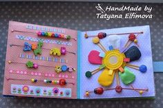 pattern and texture quiet book page; also love the flower design. AND NO LOOSE PARTS!!!