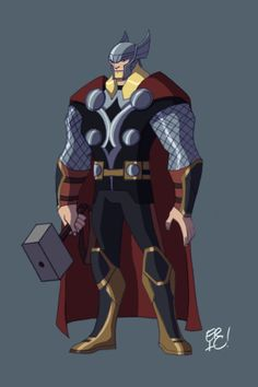 Animated Thor by EricGuzman.deviantart.com