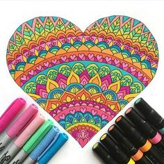 (This post contains affiliate links) These fun heart coloring pages are perfect for Valentine's Day. Print a whole stack of them for your Valentine's Day party. Or cut out your finished heart and turn it into a Valentine's Day card. Mandala Doodle, Mandala Drawing, Doodle Art, Heart Coloring Pages, Coloring Books, Kids Coloring, Adult Coloring, Dibujos Zentangle Art, Simple Mandala
