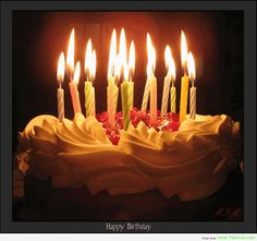 Birthday Cake with Candles Pictures | Love, Obey, Serve