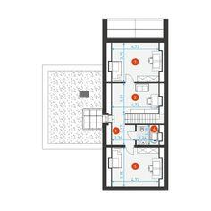 DOM.PL™ - Projekt domu DZW Z POMYSŁEM 2 CE - DOM DW2-02 - gotowy koszt budowy Dream House Plans, Exterior Design, Modern Architecture, Facade, Floor Plans, Farmhouse, House Design, Villa, How To Plan