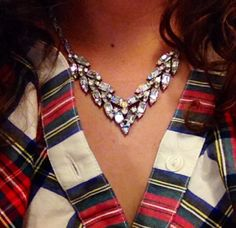 Flannel & vintage costume jewelry