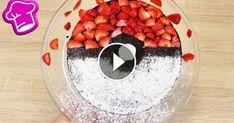 """""""Pokémon Go"""" Schoko Kuchen mit frischen Erdbeeren & Raffaello 250g Butter…"""
