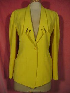 1980s Thierry Mugler Yellow Jacket at Robin Clayton Vintage