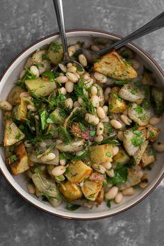 Potato Beet Salad with White Beans
