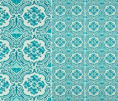 Christian Lacroix tapet - Azulejos, Turkis