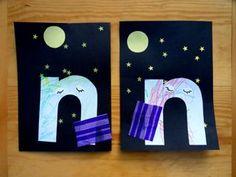 Lowercase N Craft: Night Night - Mud Hut Mama