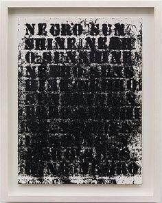 Glenn Ligon, Untitled (Negro Sunshine)