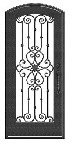 Wrought iron doors are indeed a style from the past. With creativity, you can make your house look more sophisticated with the wrought iron front doors. Metal Gates, Wrought Iron Doors, Burglar Bars, Iron Front Door, Window Grill Design, Door Gate Design, Iron Steel, Iron Art, Steel Doors