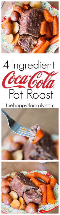 This four ingredient Coca-Cola pot roast is super easy to make, and will feed a crowd at your next holiday gathering. @CocaCola @FamilyDollar #SimpleWaytoShareJoy #ad