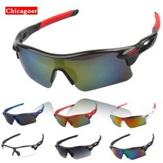 df02fbc134 Gurensye Brand New Design Big Frame Colourful Lens Sun Glasses Outdoor  Sports Cycling Bike Goggles Motorcycle Bicycle Sunglasses