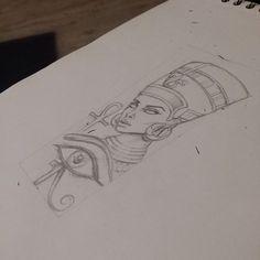 Queen Nefertiti,tattoo design.: …