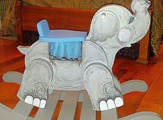 Hand painted elephant rocking chair by Tammy Howell 865-254-6514